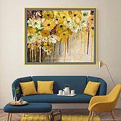 Картины и панно handmade. Livemaster - original item Painting with flowers