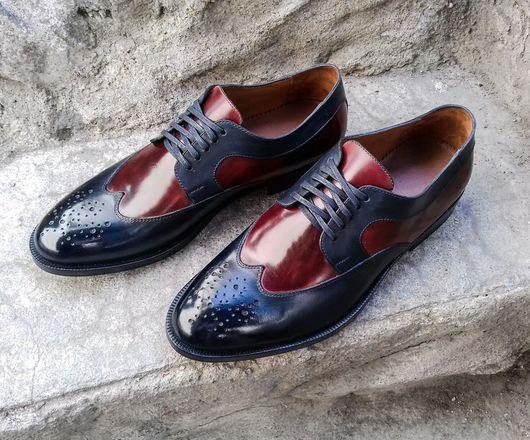 Обувь ручной работы. Ярмарка Мастеров - ручная работа. Купить Туфли ручной работы HayBros r-40. Handmade.