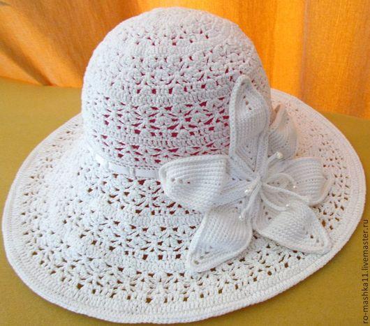 Шляпы ручной работы. Ярмарка Мастеров - ручная работа. Купить Шляпа с лилией. Handmade. Шляпа, лилия, головной убор, бусины