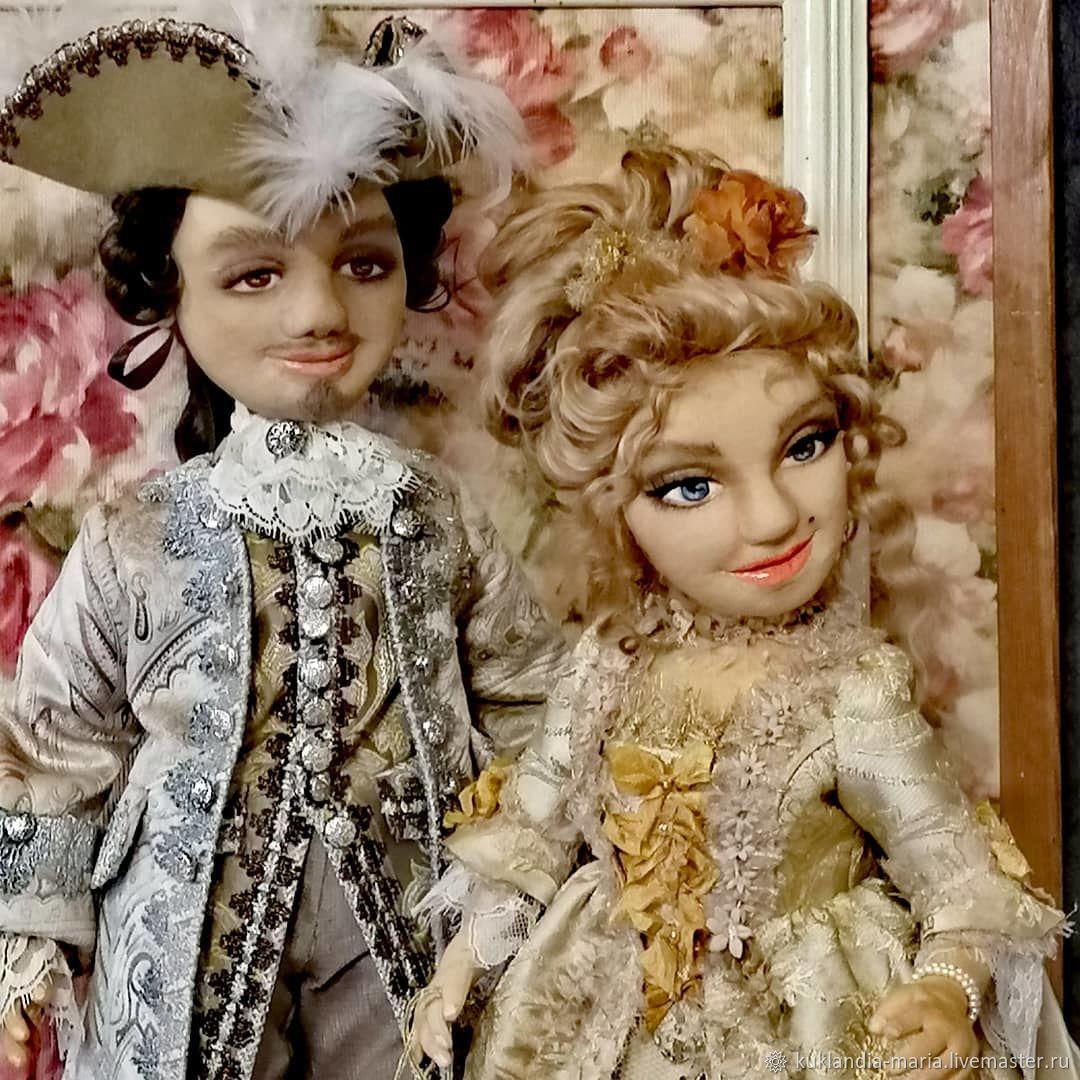 Marquise de Pompadour and Louis XV boudoir, interior dolls, Boudoir doll, St. Petersburg,  Фото №1