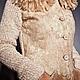 Пиджаки, жакеты ручной работы. Бежевый жакет с мехом. Анна Братасюк. Ярмарка Мастеров. Валяние из шерсти, мех из флиса