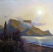 Картины и панно handmade. Livemaster - original item Oil painting in frame. Seascape. calm. Handmade.
