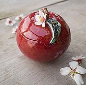 Для дома и интерьера ручной работы. Ярмарка Мастеров - ручная работа Наливное яблочко-шкатулка. Handmade.