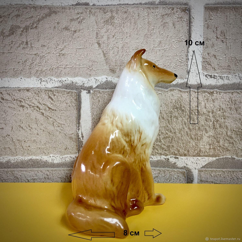 Колли - соболиный с белым: авторская статуэтка, Статуэтки, Москва,  Фото №1