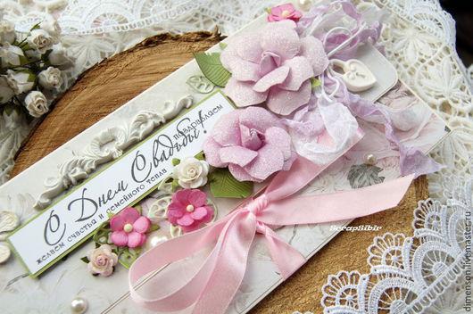 Свадебные открытки ручной работы. Ярмарка Мастеров - ручная работа. Купить Конверт для денег СВАДЕБНЫЙ. Handmade. Розовый, конверты для денег