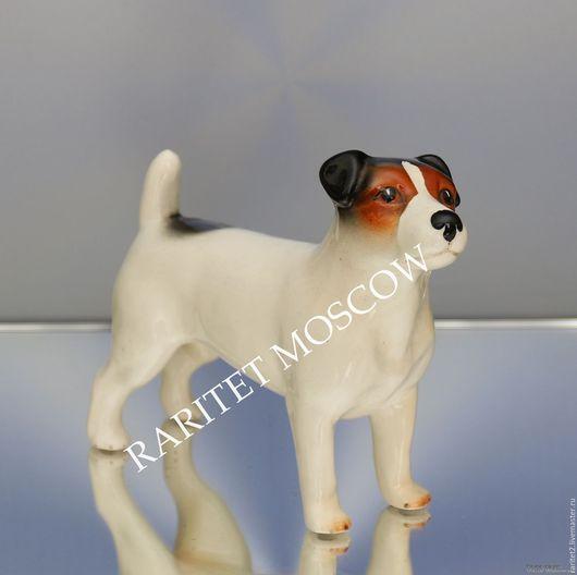 Винтажные предметы интерьера. Ярмарка Мастеров - ручная работа. Купить РЕДКОСТЬ Джек Рассел терьер собака Англия 40. Handmade.