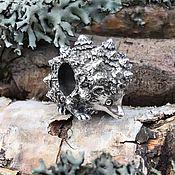 "Украшения handmade. Livemaster - original item Silver bead ""Hedgehog"". Handmade."