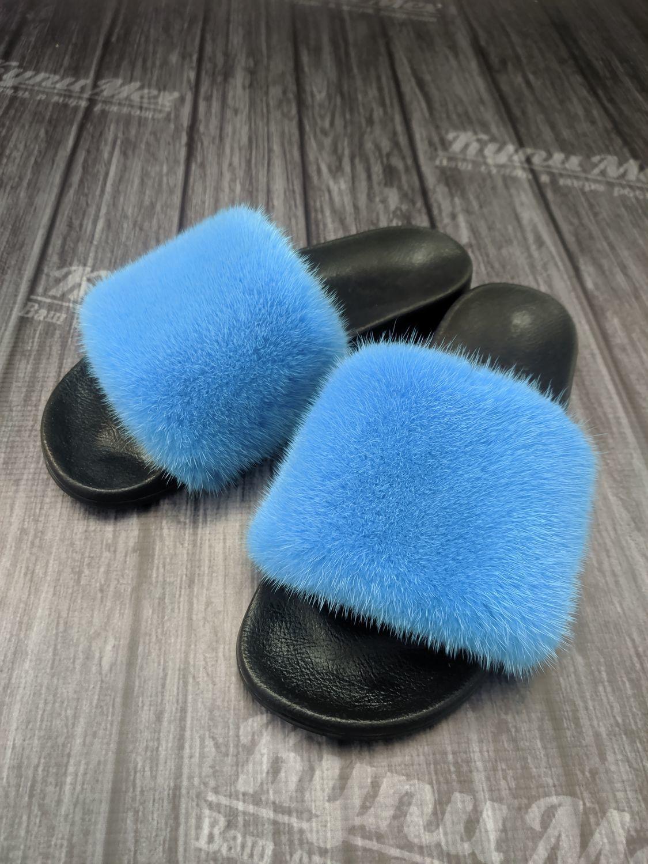 Women's flip flops from mink – купить