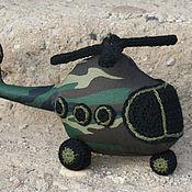 Куклы и игрушки ручной работы. Ярмарка Мастеров - ручная работа Вертолёт военный. Handmade.