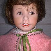Портретная кукла ручной работы. Ярмарка Мастеров - ручная работа : Куклы фарфоровые коллекционные Дания и Денни. Handmade.