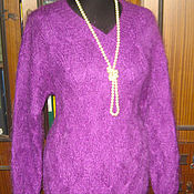 Одежда handmade. Livemaster - original item Pullover of the Royal mohair is as warm as a coat, classics. Handmade.