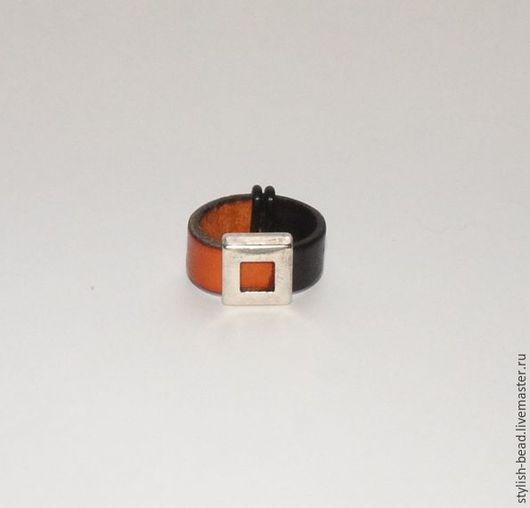 """Кольца ручной работы. Ярмарка Мастеров - ручная работа. Купить Кольцо """"Два в одном"""". Handmade. Кольцо, кожаное кольцо"""