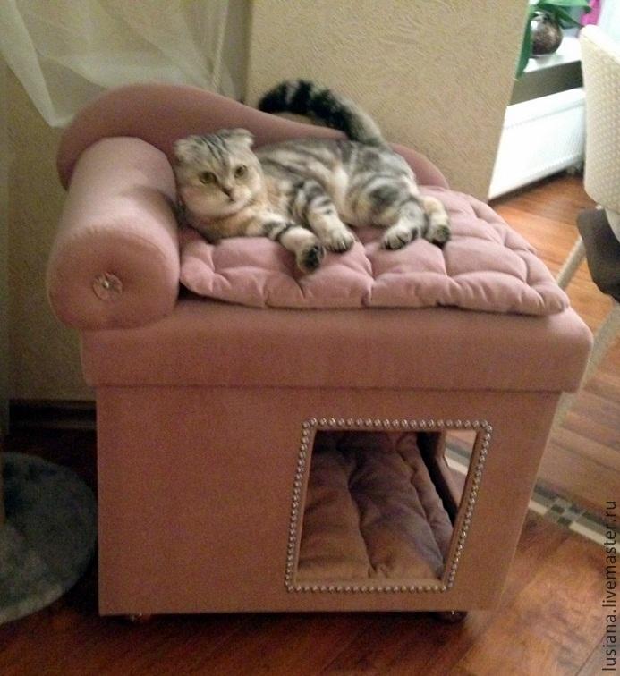 Как сделать своими руками лежаки для кошек 88