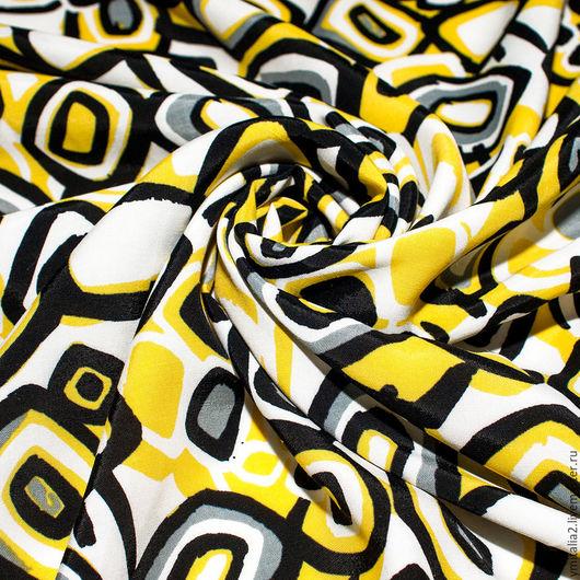 Шитье ручной работы. Ярмарка Мастеров - ручная работа. Купить Штапель вискозный плательная ткань MARNI желтый. Handmade.