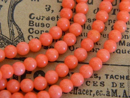 Для украшений ручной работы. Ярмарка Мастеров - ручная работа. Купить Коралл натуральный розовый, 4 мм. Каменный бисер.. Handmade.
