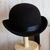 Аксессуары handmade. Livemaster - original item Felt hat bowler hat Unisex. Handmade.