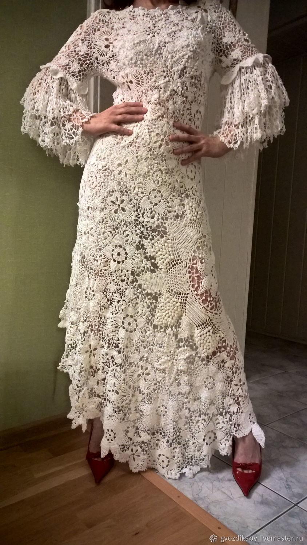 первом плане изумительной красоты ажурные платья крючком фото различных соцсетях своих