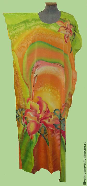 """Большие размеры ручной работы. Ярмарка Мастеров - ручная работа. Купить Платье""""Летняя Фантазия"""" , большой размер (58-60). Handmade. Лето"""