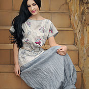 Одежда handmade. Livemaster - original item Linen suit with skirt