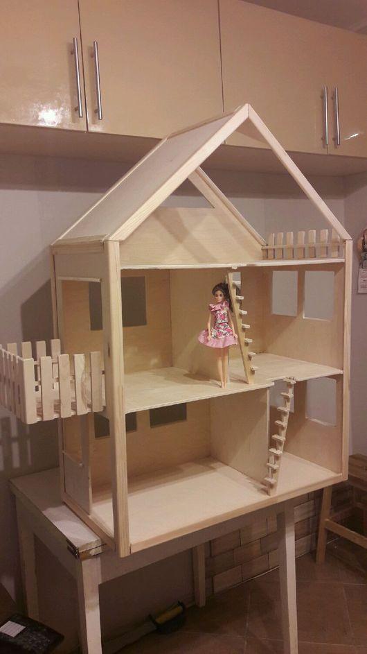 Кукольный дом ручной работы. Ярмарка Мастеров - ручная работа. Купить Домик для барби с балконом. Handmade. Домик
