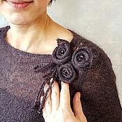 """Одежда ручной работы. Ярмарка Мастеров - ручная работа Свитер из кид-мохера с люрексом """"Три розы"""". Handmade."""