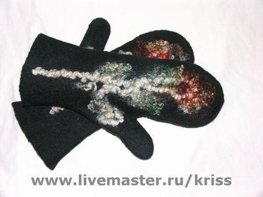 Варежки, митенки, перчатки ручной работы. Ярмарка Мастеров - ручная работа. Купить варежки. Handmade. Тёмно-синий, варежки жениские