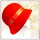 Шляпы ручной работы. Ярмарка Мастеров - ручная работа. Купить А ля  тридцатые. Handmade. Красный, ретро стиль, велюр