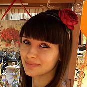 """Украшения ручной работы. Ярмарка Мастеров - ручная работа """"Красная роза"""" Ободок для волос. Handmade."""