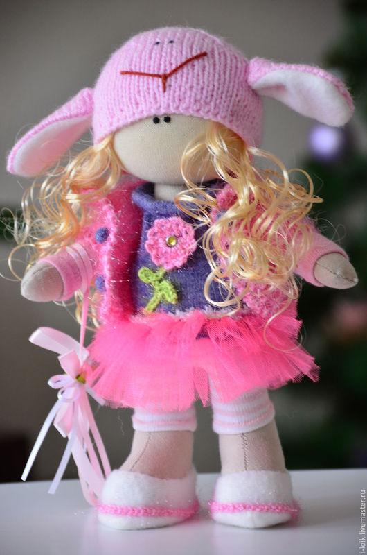 Человечки ручной работы. Ярмарка Мастеров - ручная работа. Купить Текстильная кукла малышка для малышки. Handmade. Сиреневый, кукла текстильная
