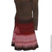 """Одежда ручной работы. Ярмарка Мастеров - ручная работа Юбка вязаная женская """"Клаудиа"""" (100% шерсть, Кауни). Handmade."""