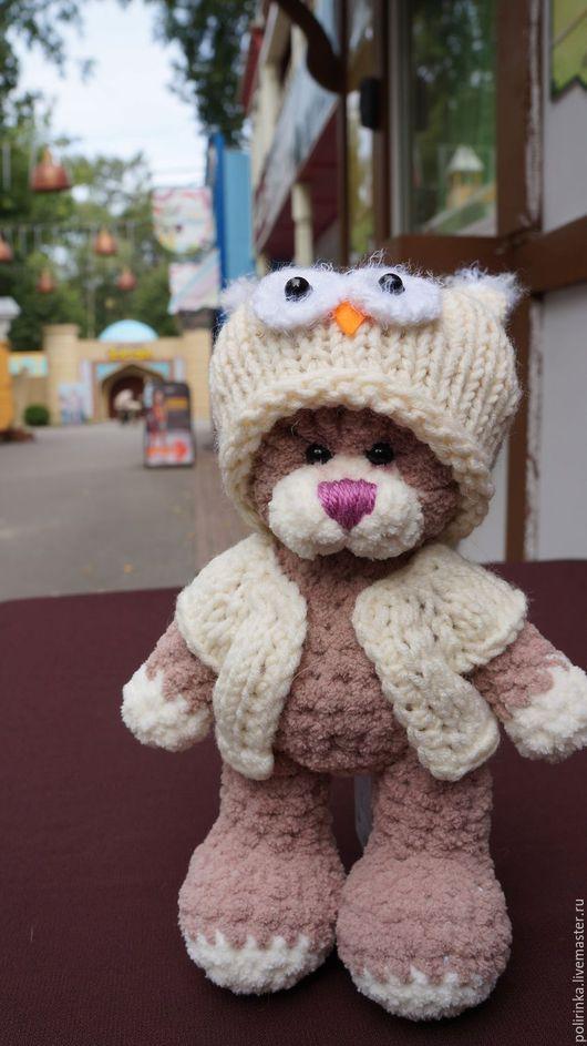 Игрушки животные, ручной работы. Ярмарка Мастеров - ручная работа. Купить Мишка в шапке Сова. Handmade. Бежевый, мишка в одежке