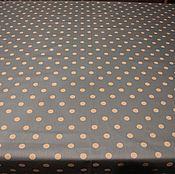 Для дома и интерьера ручной работы. Ярмарка Мастеров - ручная работа Хлопковая скатерть с  пропиткой Горох голубой. Handmade.