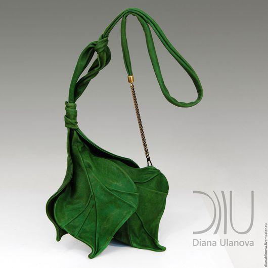Женские сумки ручной работы. Ярмарка Мастеров - ручная работа. Купить Бутон зеленый. Handmade. Зеленый, бохо-стиль