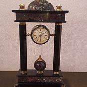 Часы ручной работы. Ярмарка Мастеров - ручная работа Каминные часы из натурального камня. Handmade.