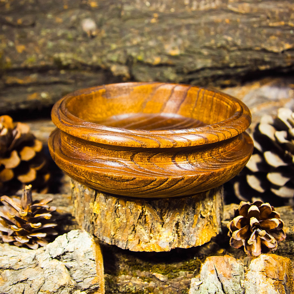 Small Bowl from the Siberian Elm tree in the Candy bowl Kitchenware of wood #V9, Plates, Novokuznetsk,  Фото №1
