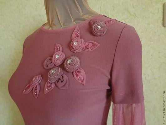 """Блузки ручной работы. Ярмарка Мастеров - ручная работа. Купить блуза """" Вишневая пенка """" .. Handmade. Розовый, трикотаж"""