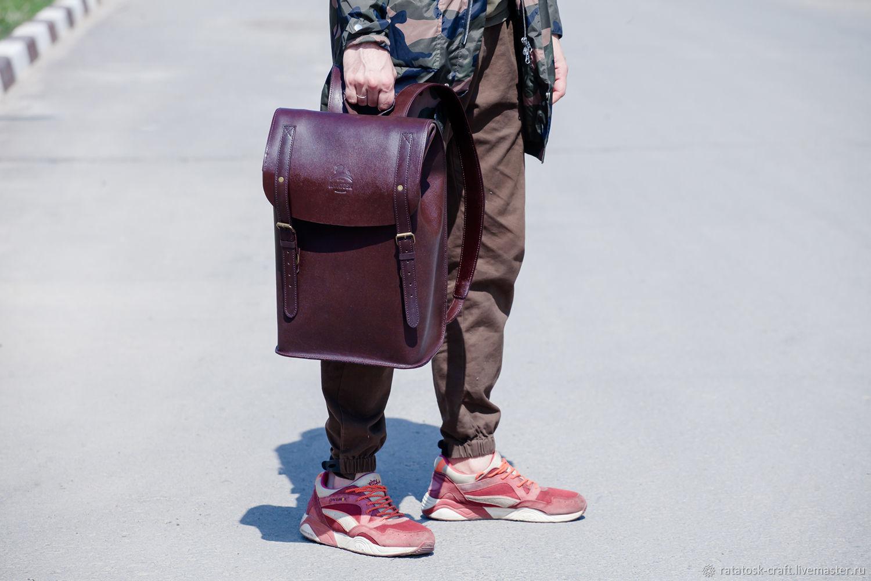 0ce17a3e9b32 Рюкзаки ручной работы. Кожаный городской рюкзак ПОРТЛЕНД. Ratatosk Leather  Accessories.