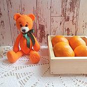 Куклы и игрушки ручной работы. Ярмарка Мастеров - ручная работа Мишка мандаринчик, мишка вязаный. Handmade.