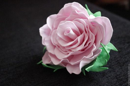 Заколки ручной работы. Ярмарка Мастеров - ручная работа. Купить Цветок ручной работы. Handmade. Розовый, фоамиран, фоамиран иранский