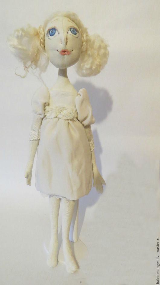 Авторская кукла ручной работы, Ярмарка мастеров-ручная работа, Handmade, Белый, Зефирка, нежность