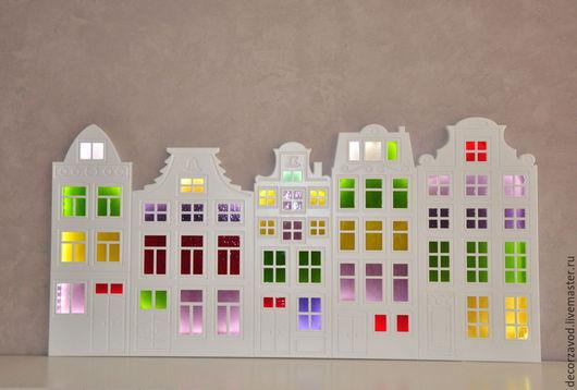 Освещение ручной работы. Ярмарка Мастеров - ручная работа. Купить Светильник Амстердам. Handmade. Разноцветный, сказочный домик, декор для интерьера