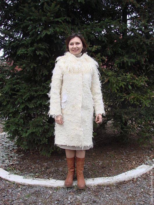 пальто женское валяное