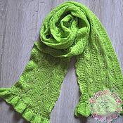 Аксессуары ручной работы. Ярмарка Мастеров - ручная работа Ажурный шарф. Handmade.