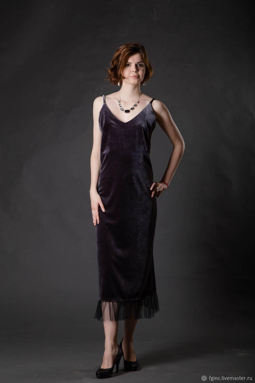 Платье-комбинация из бархата, Платья, Санкт-Петербург,  Фото №1