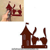 """Для дома и интерьера ручной работы. Ярмарка Мастеров - ручная работа ключница """"город"""". Handmade."""