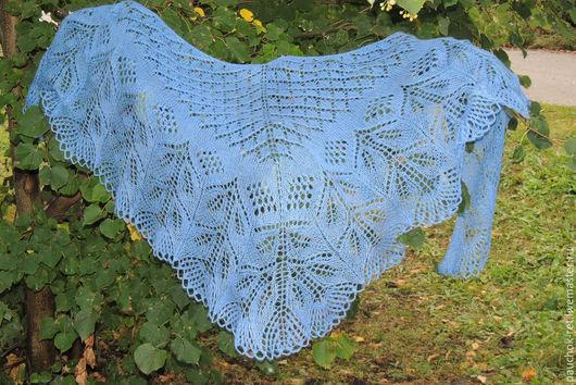 """Шали, палантины ручной работы. Ярмарка Мастеров - ручная работа. Купить Шаль """"Голубая мечта"""". Handmade. Голубой, шаль для девушки"""