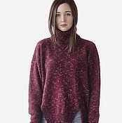Одежда handmade. Livemaster - original item Knitted sweater oversize split of tweed yarn. Handmade.