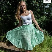 Одежда handmade. Livemaster - original item Fishnet skirt made of mohair. Handmade.