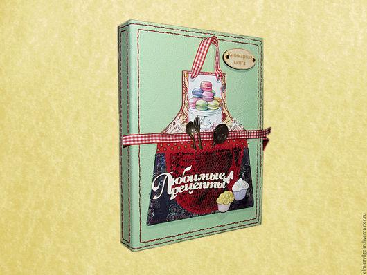 Кулинарные книги ручной работы. Ярмарка Мастеров - ручная работа. Купить Кожаная Кулинарная книга. Handmade. Комбинированный, подарок девушке