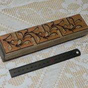Материалы для творчества ручной работы. Ярмарка Мастеров - ручная работа Штамп из дерева арт. 10502_1_200х45. Handmade.